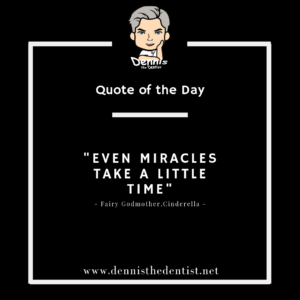 """Even miracles take a little time"" — Fairy Godmother - Cinderella"